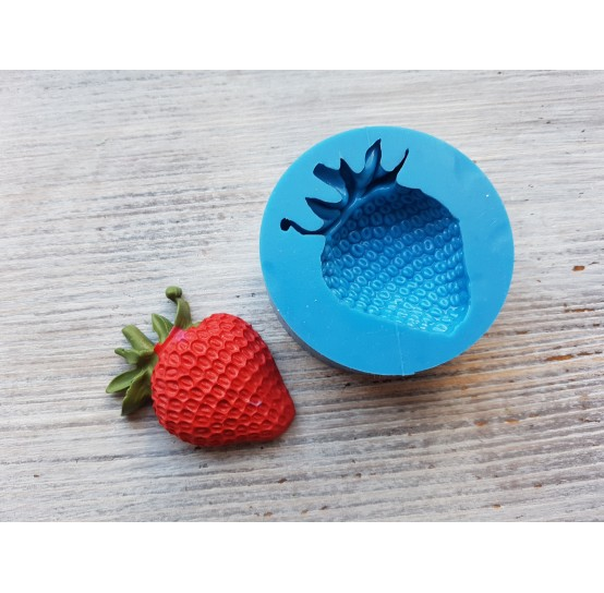 Silicone mold strawberry, artificial, large, ~ Ø 3.2-4.7 cm