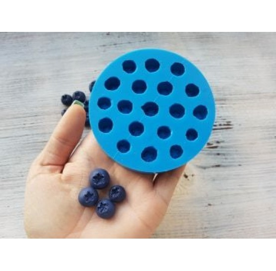 Silicone mold handmade blueberry, 19 berries, ~ Ø 1.2-1.5 cm