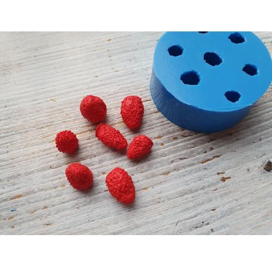 Silicone mold garden strawberries, 7 berries, ~ Ø 1.1-1.5 cm