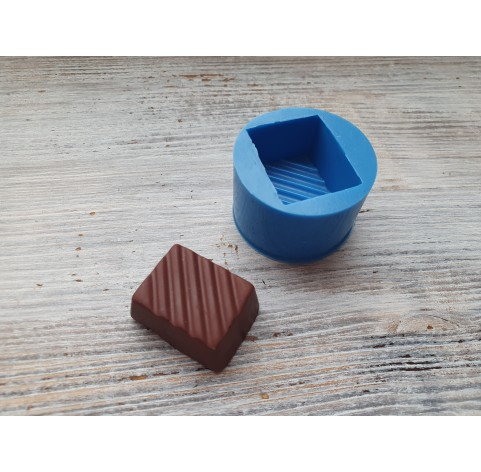 Silicone mold, chocolate with strips, ~ 3.1 cm