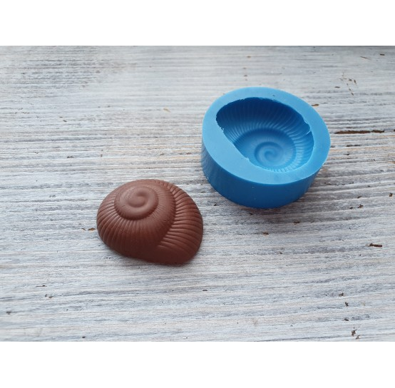 """Silicone mold, chocolate candy """"shell"""", ~ 3.3 cm"""