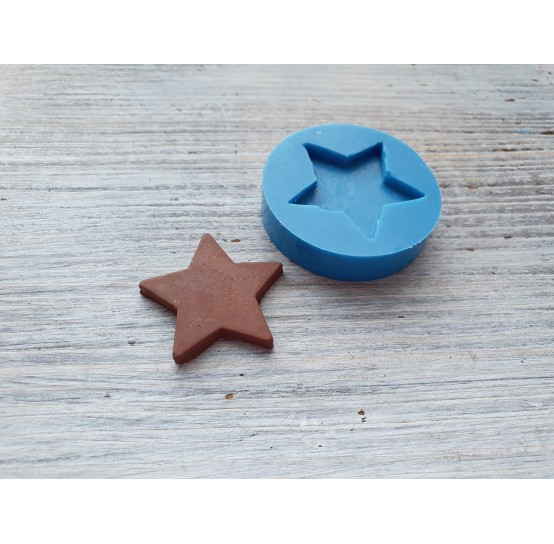 """Silicone mold, chocolate candy """"star"""", ~ 2.9 cm"""