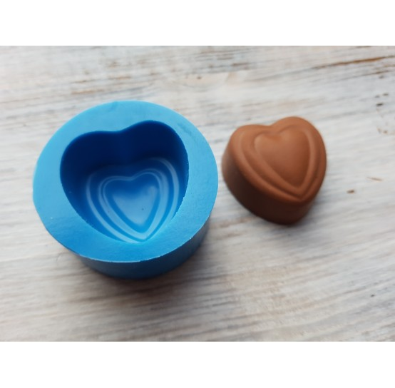 Silicone mold, chocolate candy heart 4, ~ 2.9 cm