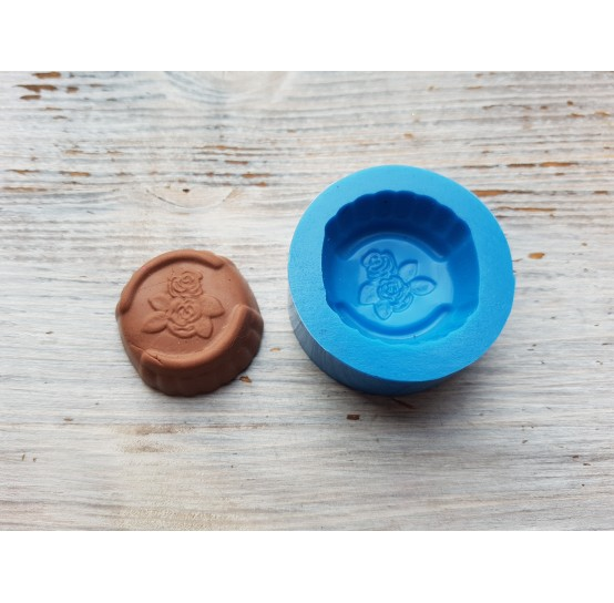 Silicone mold, chocolate candy with flowers, ~ 2.9 cm