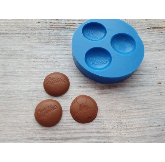 Silicone mold, candies, 3 pcs., ~ 1.7 cm