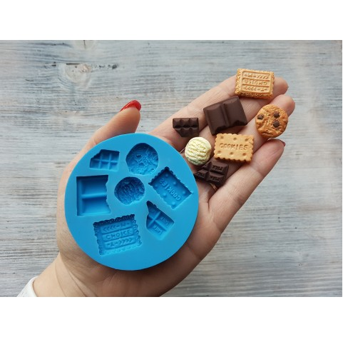 Silicone mold, set of sweets, 7 pcs., ~ 1.1*2.2 cm