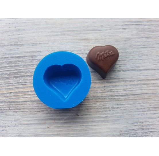 Silicone mold, chocolate heart, ~ 2.6 cm