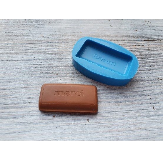 """Silicone mold, chocolate """"M"""", large, ~ 2.3*4.4 cm"""