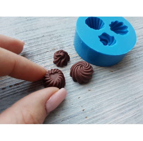 Silicone mold, 3 candies, set, ~ 1.6 cm