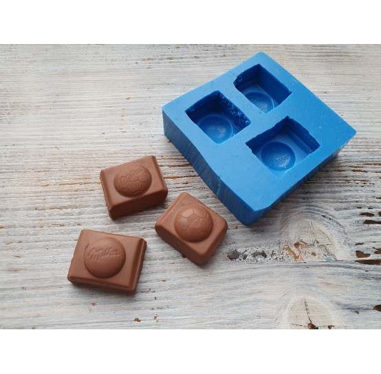 Silicone mold 3 pieces of chocolate, ~ 3 cm