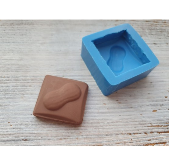 Silicone mold, piece of chocolate with peanuts, ~ 3.1 cm