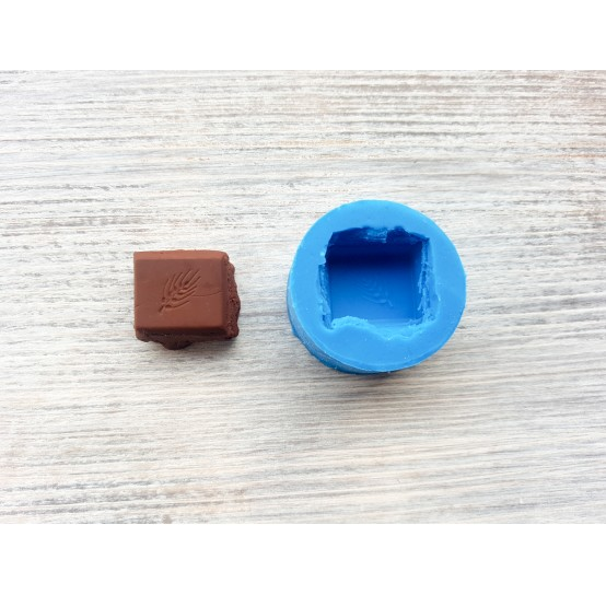 Silicone mold chocolate slice, ~ 2.3 cm