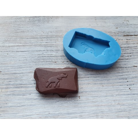 Silicone mold chocolate with elephants, ~ 4.6 cm