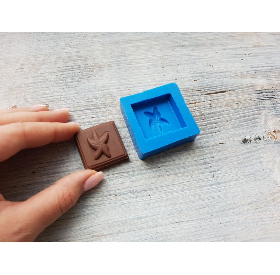Silicone mold chocolate with starfish, ~ 3.4 cm