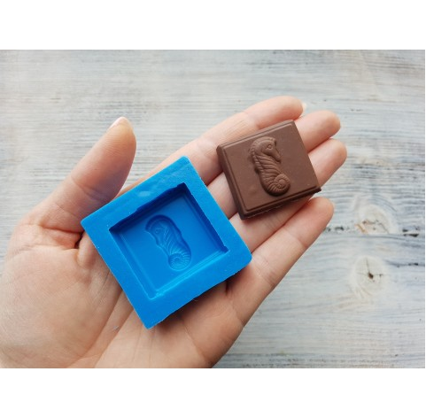 Silicone mold chocolate with seahorse, ~ 3.6 cm