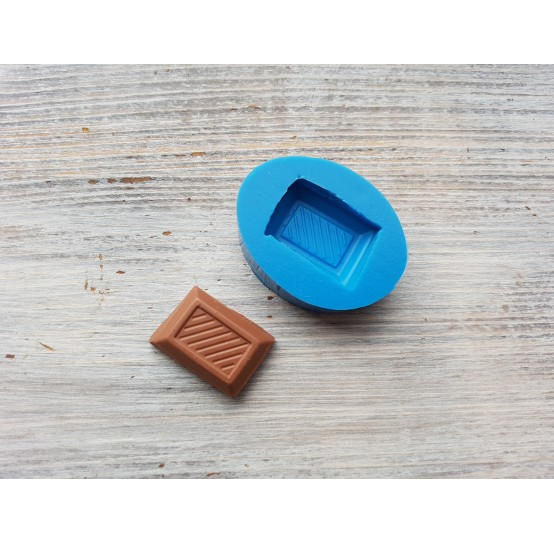 Silicone mold piece of chocolate with stripes 2, ~ 2.5 cm