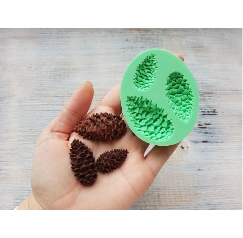 Silicone mold, cone, 3 pcs., ~ 1.5-3 cm, ~ 2-4 cm, ~ 2.5-4.3 cm