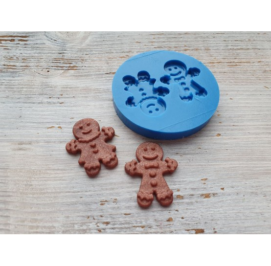 Silicone mold, gingerbread mans, 2 pcs., ~ 2.6*3.2 cm