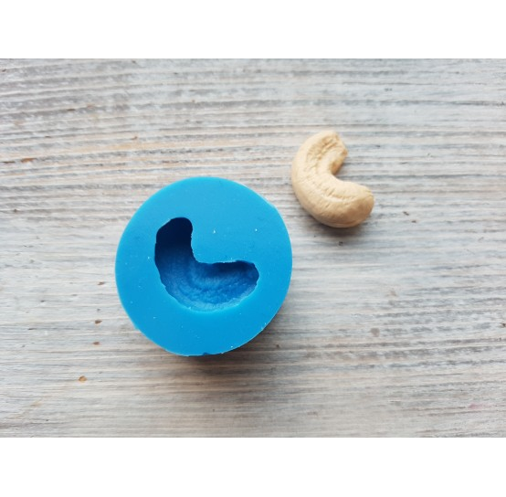 Silicone mold, cashew nut, 2D, ~ 1*2.5 cm