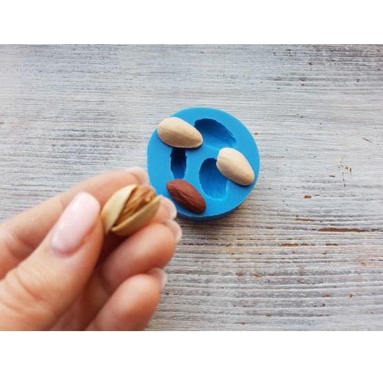 Silicone mold, pistachios, 1-2 cm