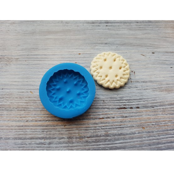 Silicone mold, classic cookie, round, ~ Ø 3 cm