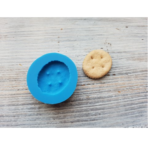Silicone mold, salty cookie, round, ~ 2.4*2.9 cm
