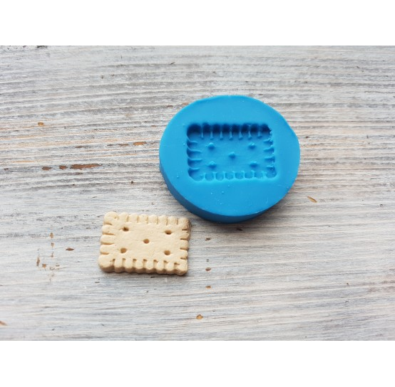 Silicone mold, cookie, rectangle, ~ 1.8*2.5 cm