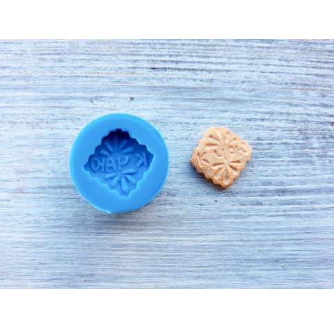 """Silicone mold, cookie """"K"""", ~ 1.7 cm"""