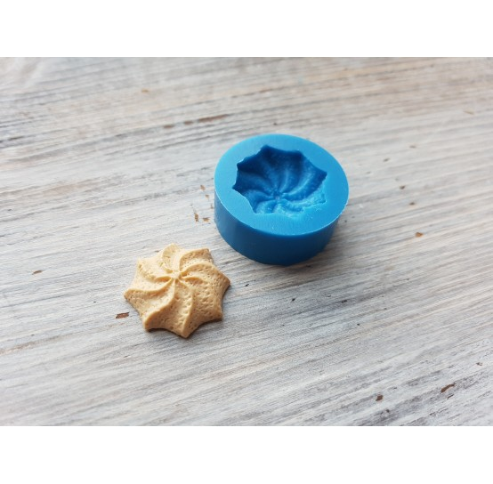 Silicone mold, shortbread cookie, spiral, ~ Ø 2 cm