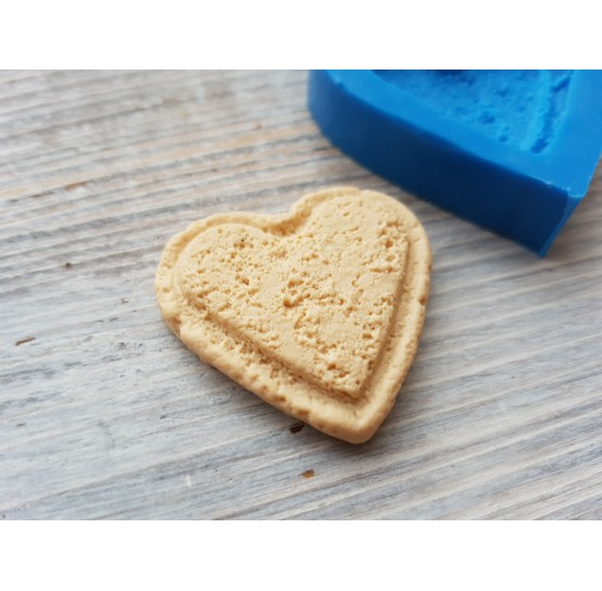 Silicone mold, cookie heart, large, ~ 3.3*3.2 cm