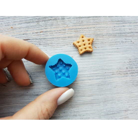 Silicone mold, cookie star, ~ 2 cm