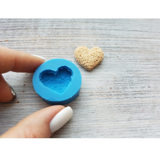 Silicone mold, airy cookie heart, ~ 2.3 cm