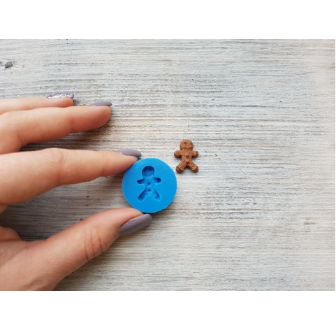 Silicone mold, gingerbread man cookie, small, ~ 1.5*2 cm