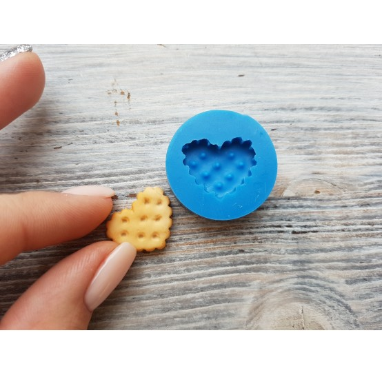 Silicone mold, cookie heart, small, ~ 1.5*1.9 cm