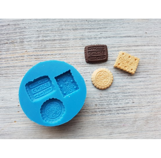 Silicone mold, set of cookies, 3 pcs., ~ 1.8-2 cm
