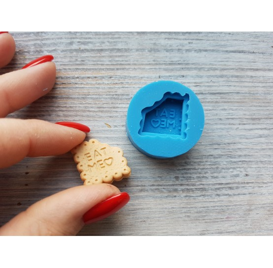 "Silicone mold, cookie ""EM"", ~ 1.9 cm"