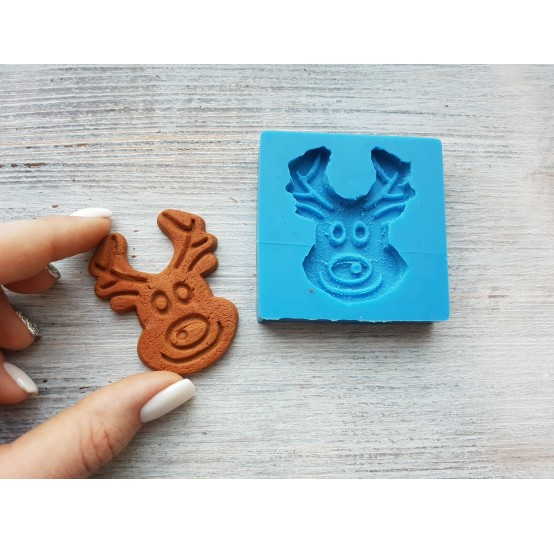 """Silicone mold, gingerbread cookie """"deer"""", ~ 4.2*5.5 cm"""