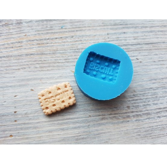 """Silicone mold, cookie """"B"""", small, ~ 1.4*1.9 cm"""