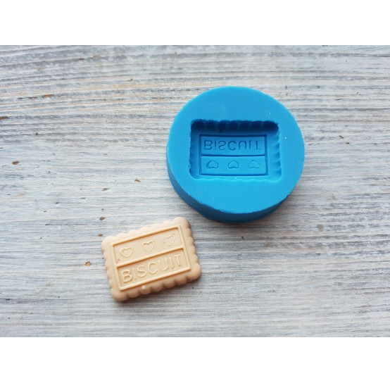 """Silicone mold, cookie """"B"""", large, ~ 1.8*2.5 cm"""