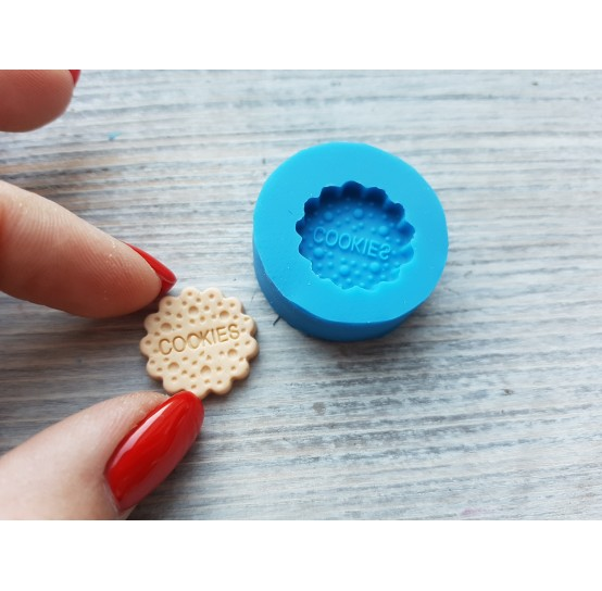 "Silicone mold, cookie ""C"", round, ~ Ø 1.7 cm"