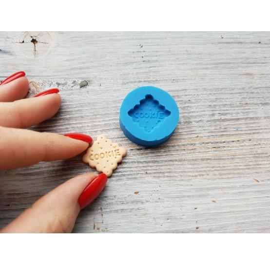 "Silicone mold, cookie ""C"", square, ~ 1.7 cm"
