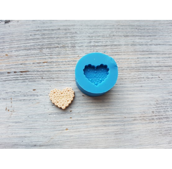 """Silicone mold, cookie """"C"""", heart, ~ 1.8 cm"""