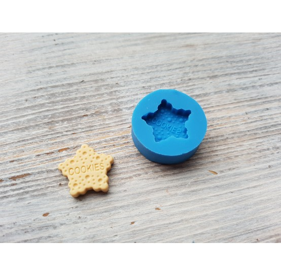 """Silicone mold, cookie """"C"""", star, ~ 1.8 cm"""
