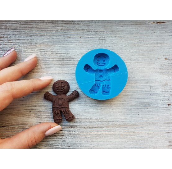 Silicone mold, gingerbread man cookie, ~ 4*5 cm