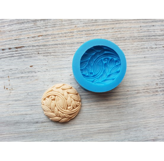 Silicone mold, cookie with floral motifs, ~ 2.7 cm