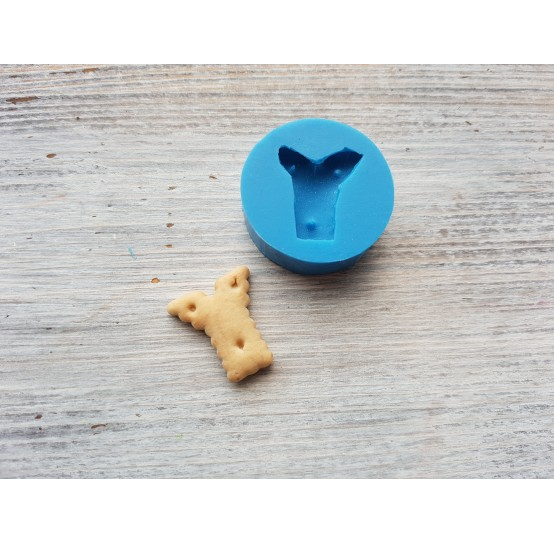 """Silicone mold, cookie letter """"Y"""", ~ 2.1*2.2 cm"""