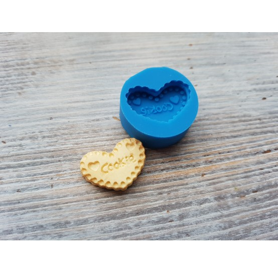 """Silicone mold, cookie """"C"""", heart, ~ 1.5*2.2 cm"""