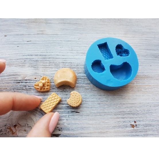 Silicone mold, set of cookies, 4 pcs., ~ 1.2*2.1 cm