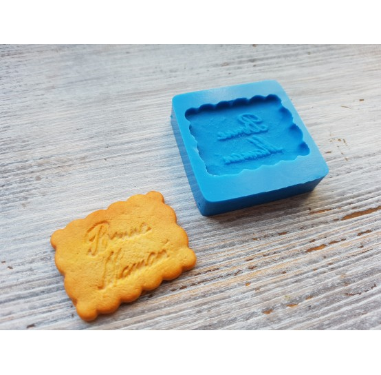 Silicone mold, cookie 7,  ~ 2.8*3.1 cm