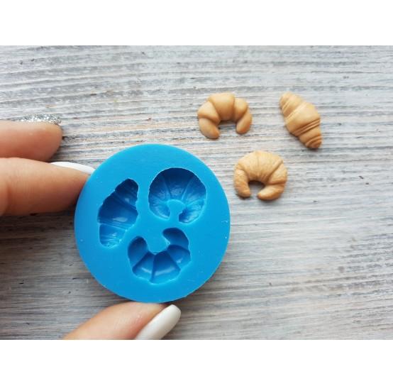 Silicone mold croissant, set, 3 pcs., ~ Ø 1.5-1.8 cm